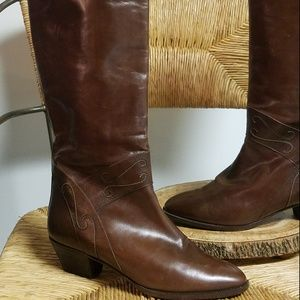 "BELTRAMI Fine Italian Leather 16"" Riding Boots"